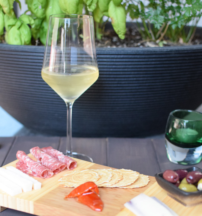 2013 Qupe Marsanne with a cheese board